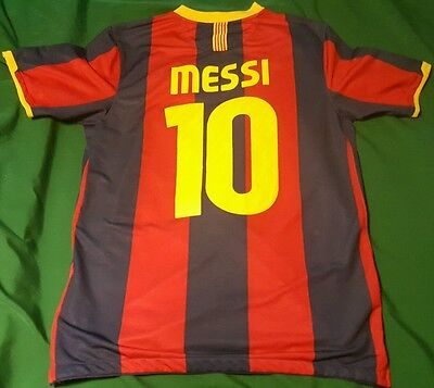 Barcelona 2010/11 Shirt - Messi 10 - Champions League - Large -VGC - 10% charity