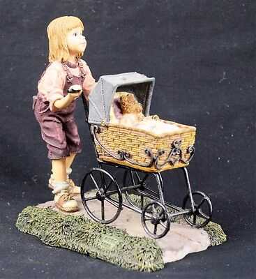 The Dollstone Collection, Casey with Baxter...Afternoon Stroll. Limited Ed. 2000