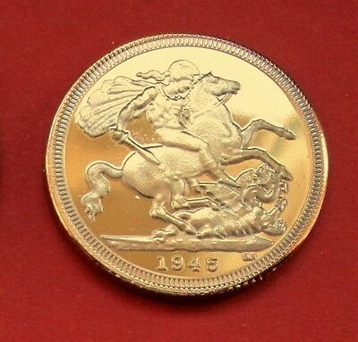 "Gold Plated + George & Dragon Coin "" Dated 1945 ""  *****free Post Uk*****"