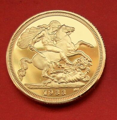 "Gold Plated + George & Dragon Coin "" Dated 1933 ""  *****free Post Uk*****"