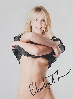 Charlize Theron (Upshirt) Atomic Blonde The Orville RARE SIGNED RP 8x10 WOW!!!