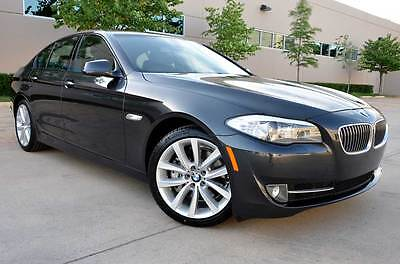 2012 BMW 5-Series Anthracite Wood Trim 12 BMW 535i Sport Premium Technology Cold Weather Sport Trans Paddle Shifters NR
