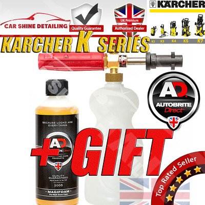 Autobrite Heavy Duty PA Snow Foam Lance & Magifoam 500ml + KARCHER CONNECTOR UK