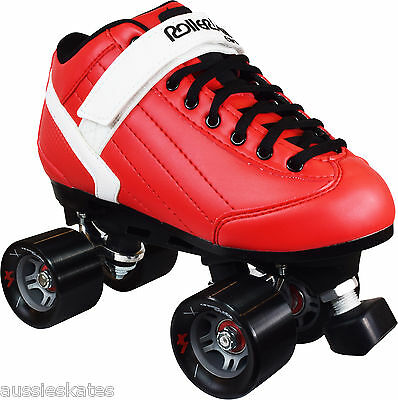 Roller Derby Stomp Factor 5 Mens Ladies Quad Fashion Roller Skates RED US Size 6