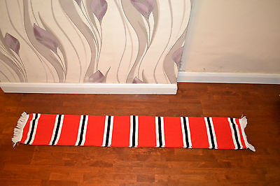 Red & White Manchester United Football Vintage Scarf Soccer Bufanda  Sunderland