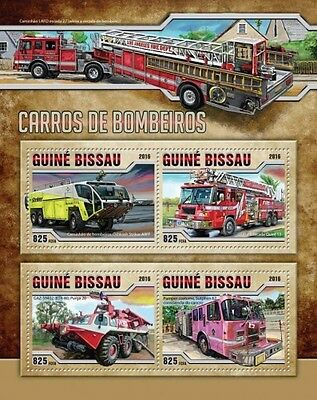 Z08 GB16511a GUINEA-BISSAU 2016 Fire engines MNH