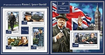 ST15103ab Sao Tome and Principe 2015 Winston Churchill MNH SET