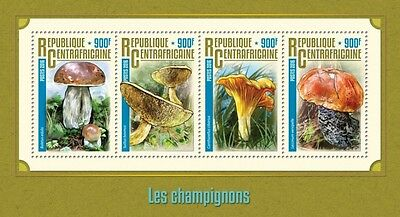 Z08 IMPERFORATED CA16215a CENTRAL AFRICA 2016 Mushrooms MNH