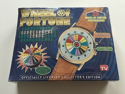 Wheel of Fortune Collectible Watch Tin As Seen Tv Game Show Light 18kt Gold Plt