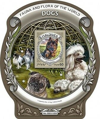 Z08 MLD16304b MALDIVES 2016 Dogs MNH