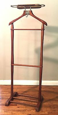 Najico Tokyo Wood Vintage Men's Jacket Suit Caddy Valet Stand Japan Mid Century