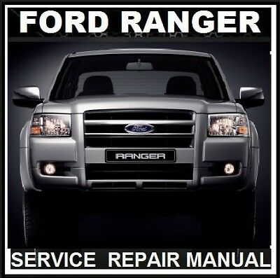 Ford Ranger Pj Pk  2006 2007 2008 2009  2010 Xl Xlt Workshop Service Manual Cd