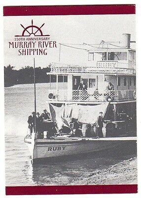 2003 AUSTRALIAN STAMP BOOKLET MURRAY RIVER SHIPPING 10 x 50c STAMPS MUH