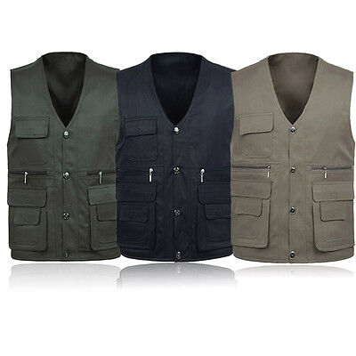 Outdoor Camping Fishing Fantastic 3 Color Men's Multi Pockets Casual Vest FS945