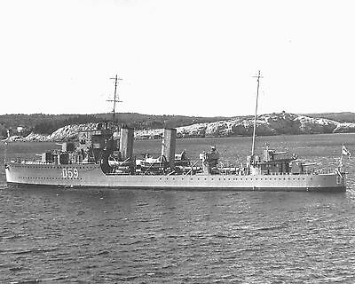 Royal Canadian Navy Destroyer Hmcs Skeena D59 With Stats And History Sheet
