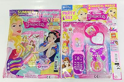 Disney PRINCESS Magazine X2 Gift Issues - AMAZING FREE GIFTS! (NEW)