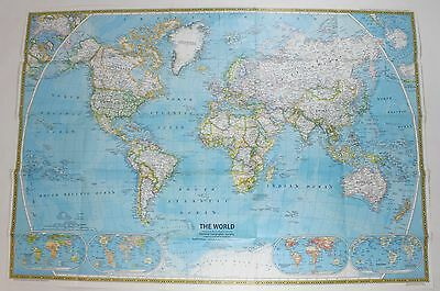 National Geographic The World Ocean Floor Vintage Original Double Sided Map