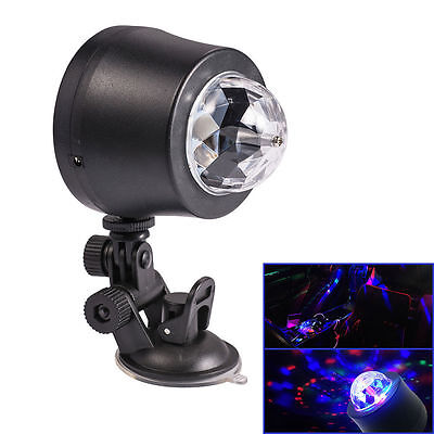 Auto Car Disco DJ Stage Lighting LED RGB Crystal Ball Lamp Bulb Light For Party
