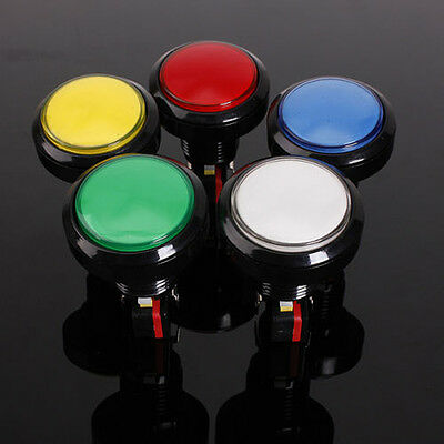 1pc 60mm LED Light Big Round Arcade Video Game Player Push Button Switch Lamp