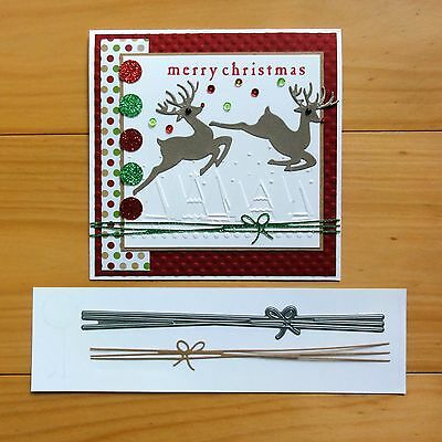 Impression Obsession Tied Line With Bow Cutting Die - Bnip