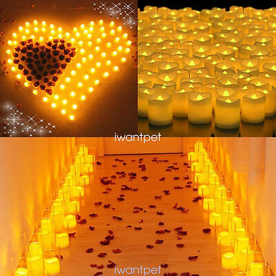 24-960 PCS Flameless Votive Candles Battery Operated Flickering LED Tea Light