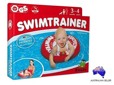 Swimtrainer Classic RED baby inflatable floaties 3m-4yr