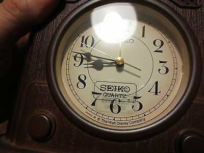 Mickey Mouse Disney Clock 60th Anniv 1987 Excellent Seiko #QFD 204B Excellent!