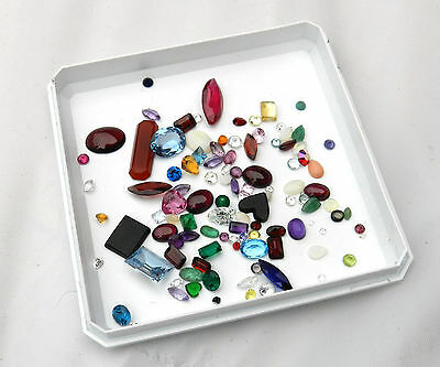 Assorted Lot of 50 ctw Semiprecious Stones From Jewelers Estate # M004