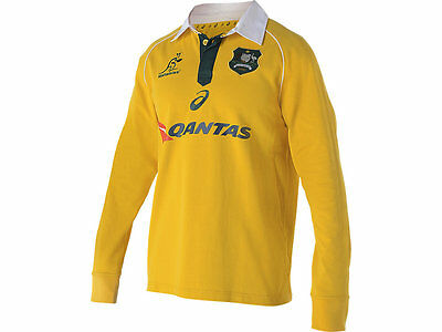 Wallabies Mens 2016 Long Sleeve Traditional Rugby Jersey 3XL