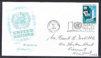 """United Nations """"Artmaster"""" 1968 - 6c Definitive  FDC  addressed"""