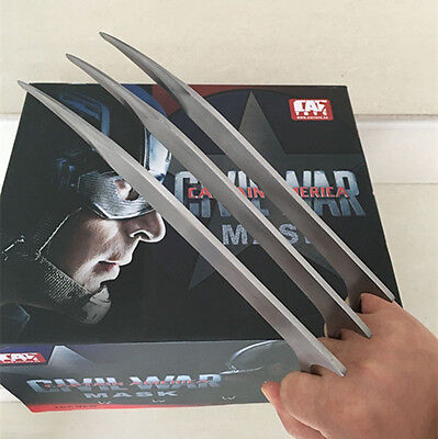 1PC X-Men Wolverine Claws Stainless Steel Blade Hero Cosplay Costume FREE SHIP