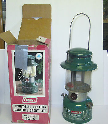 1983 Coleman Lantern Sport-Lite Model 321C With Box Coleman Canada