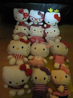 """Hello Kitty's Plush Ty & Sanrio Lot Of 12 6""""&7"""" Holiday Summer Ballet & Much Mor"""