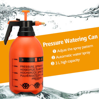 3000ML Portable Pressure Water Sprayer Pump Handheld Chemical Bottle Garden Tool