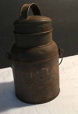 Vintage Stainless Steel Military Use  Dairy Milk Can S2 Primitive Decor