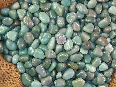 2000 Carat Lots of Polished Tumbled Green Aventurine + FREE Faceted Gemstone
