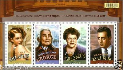 Canada Stamps -Souvenir sheet -Canadians in Hollywood #2279 -MNH