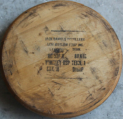 Whiskey Barrel Heads - Authentic Jack Daniels (WITH STAMP) - Solid Oak!