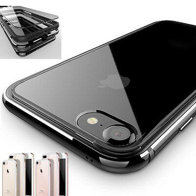 Shockproof Luxury Clear Hard Back Metallic Bumper Case Cover for iPhone 7/7 Plus