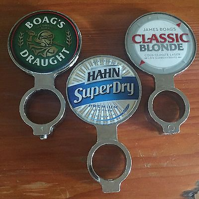 Boags Draught, Boags Classic Blonde, Hahn Super Dry Beer Tap Badge, Decal, Top