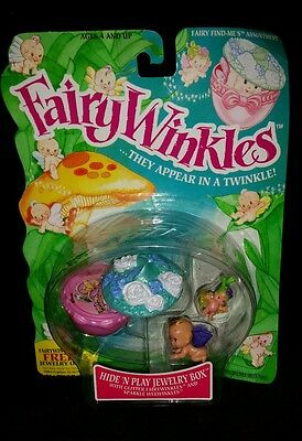 1993 Kenner Fairy Winkles Hide And Play Hide'n Play Jewelry Box W/ 2 Fairies NIB