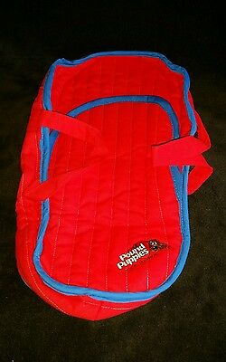 Vintage 1986 Pound Puppies Plush Dog Red Travel Carrier Tote by Tonka
