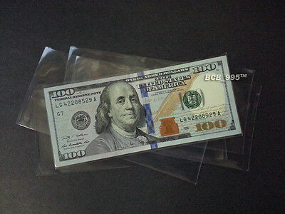 TEN Protective Currency Sleeves - SOFT Poly Cover 2-mil for your Celebrity Bills