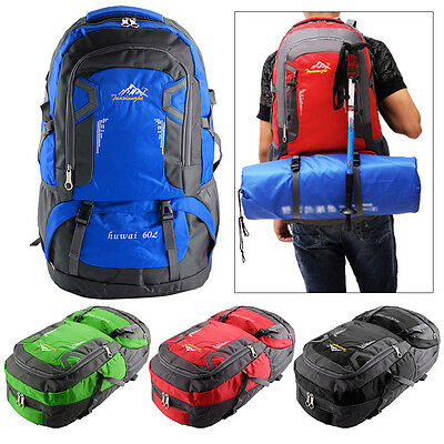 60L Climbing Backpack Hiking Travel Bags Outdoor Rucksacks 4 Coulours