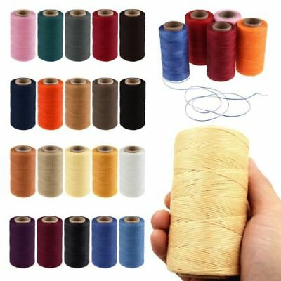260m 1mm Flat Wax Sewing Coarse Braid Waxed Thread Cord For Leather Shoes Repair