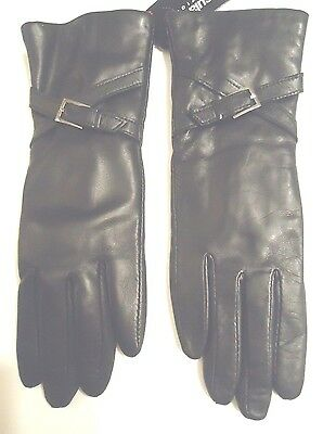 Ladies Genuine Leather Thinsulate Gloves,Black,Small