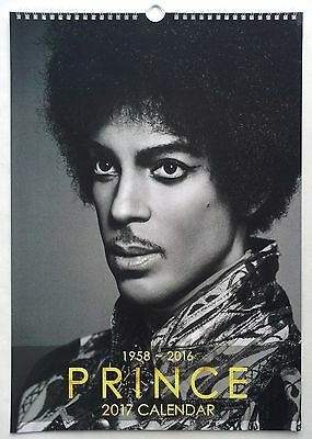 Prince Wall Calendar 2017 NEW Purple Rain Kiss When Doves Cry I Would Die 4 You