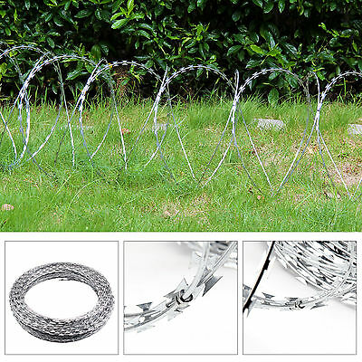 Razor Wire 100m Galvanised Barbed Steel Security Farm Fence Coiled Concertina
