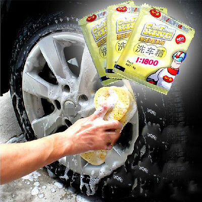 Car Vehicle Care Wash Cleaning Concentrate Shampoo Detergent Powder Soap 6g
