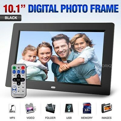 "10.1"" inch HD Black TFT-LCD Alarm Clock Video MP3 MP4 Player Digital Photo Frame"
